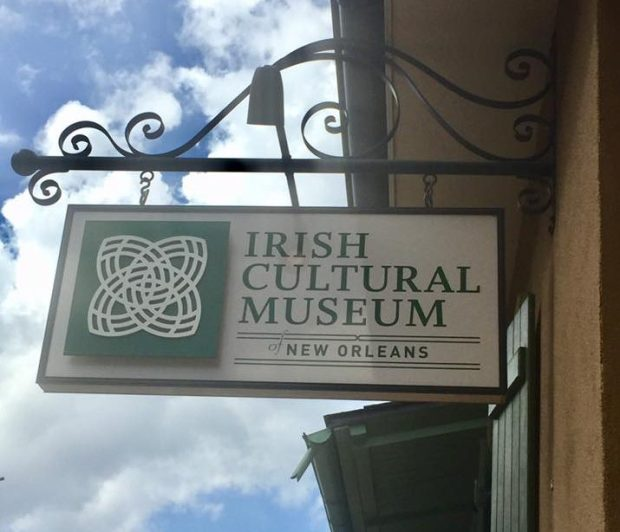 "sign reading ""irish cultural museum"""